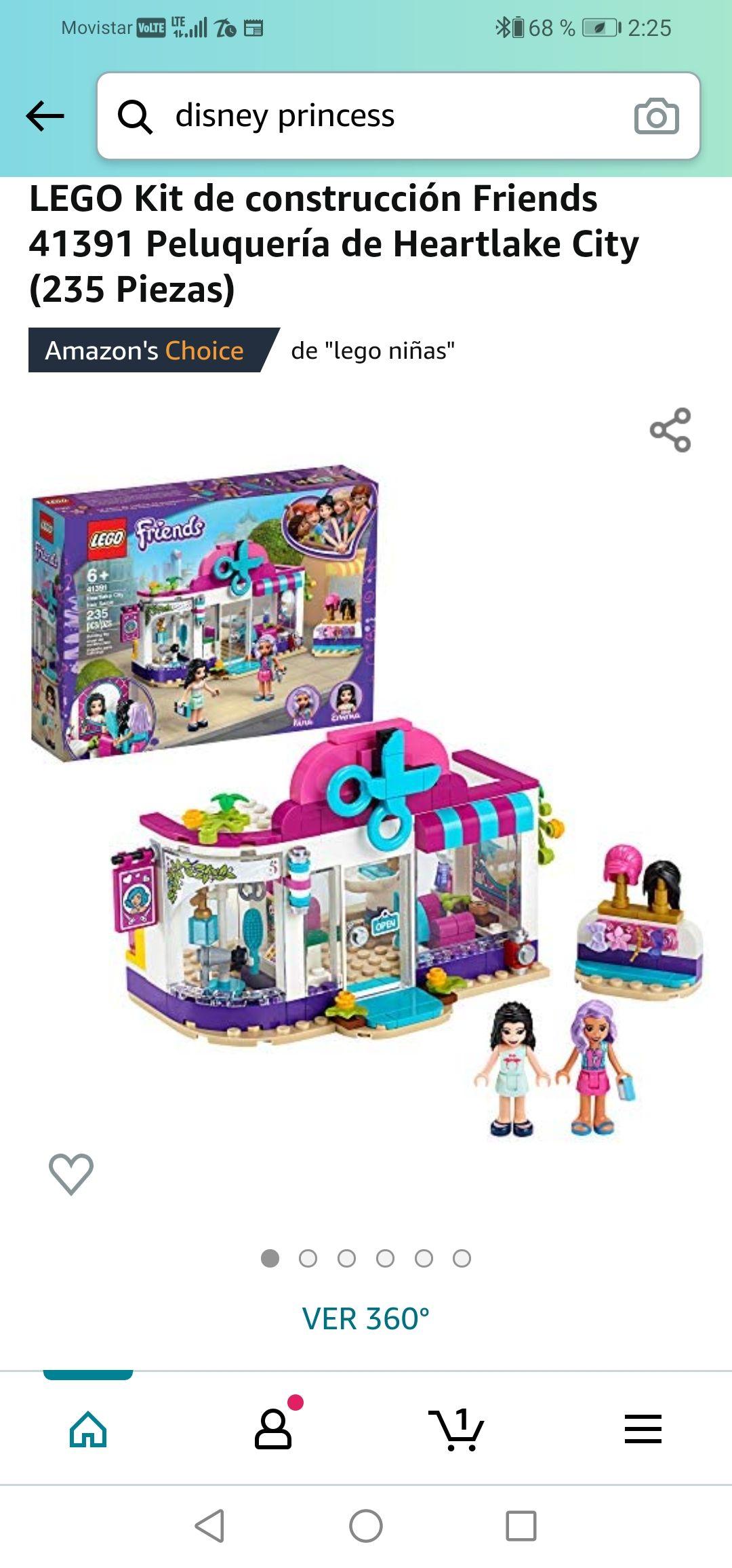 Amazon :LEGO Kit de construcción Friends 41391 Peluquería de Heartlake City (235 Piezas)