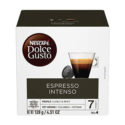 Amazon: Nescafé Dolce Gusto Café Espresso Intenso de 16 cápsulas cada uno, 3 paquetes con planea y ahorra