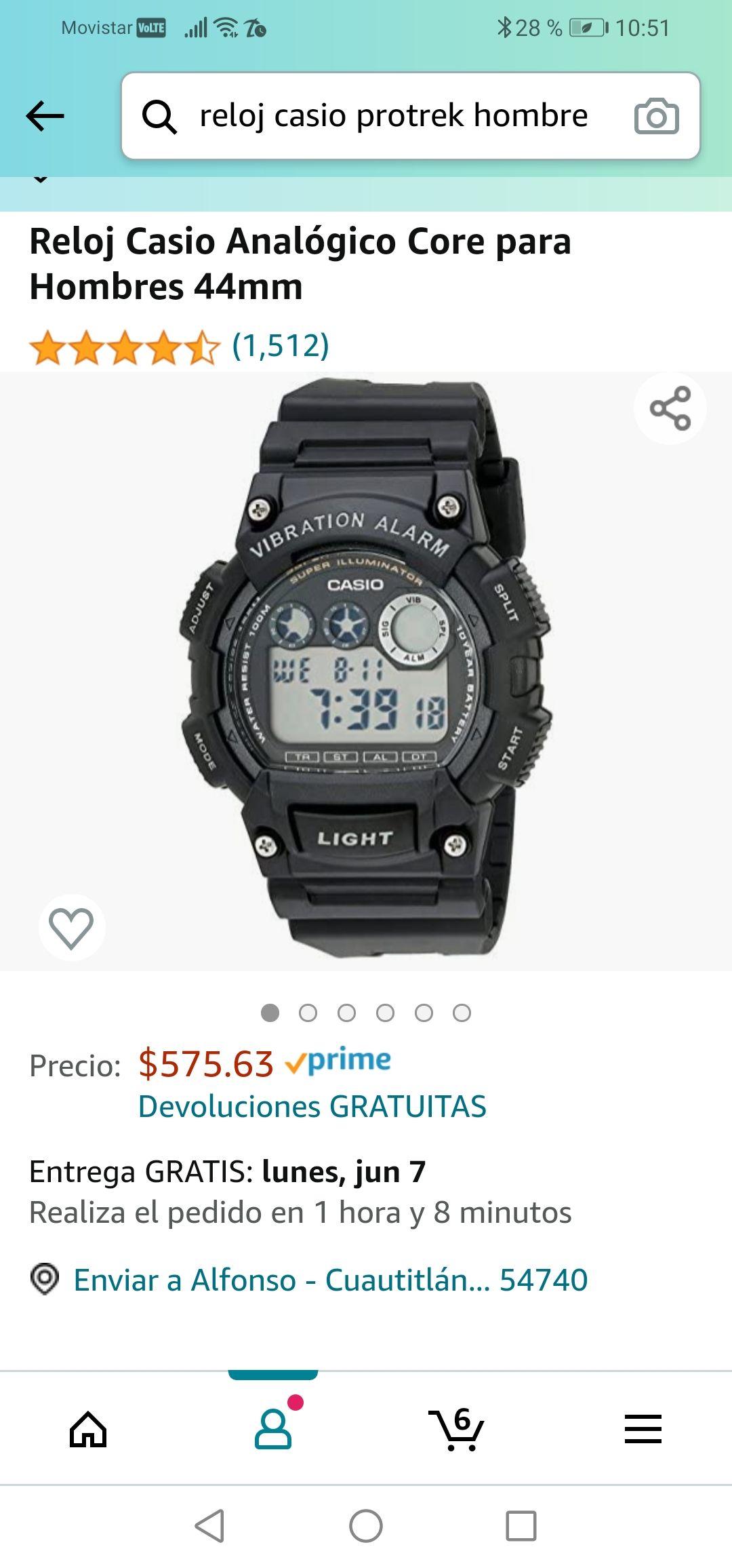 Amazon : Casio con Alarma de vibracion
