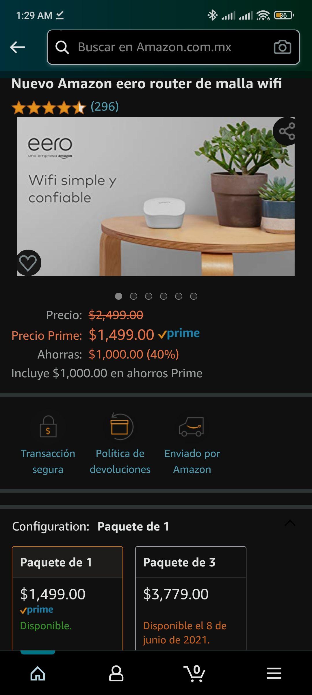 Amazon: Router Eero de malla (oferta anticipada de prime day)