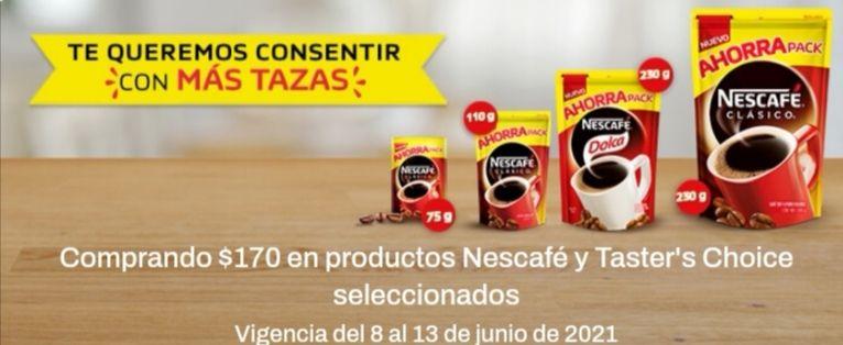 Chedraui: Envío gratis en super en la compra de $170 en productos Nescafé y Taster's Choice seleccionados