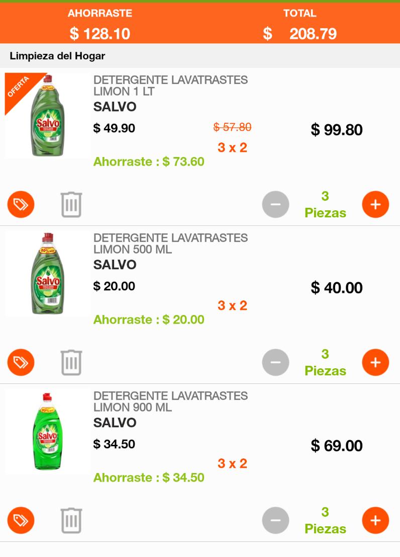 La Comer: SALVO 500ML