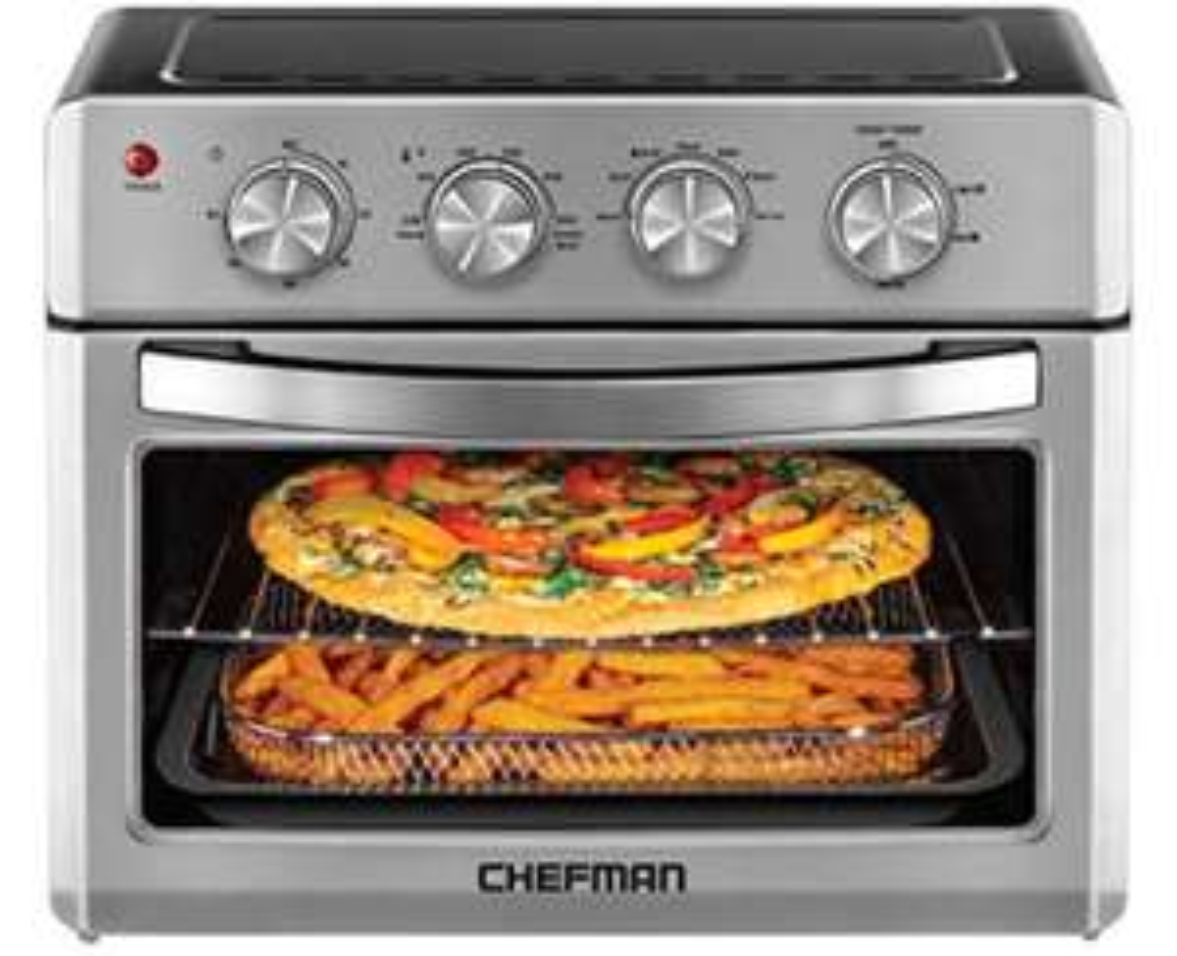 Amazon: Chefman | Horno Freidora de Aire de 25 Litros | Fríe sin Aceite | Acero Inoxidable