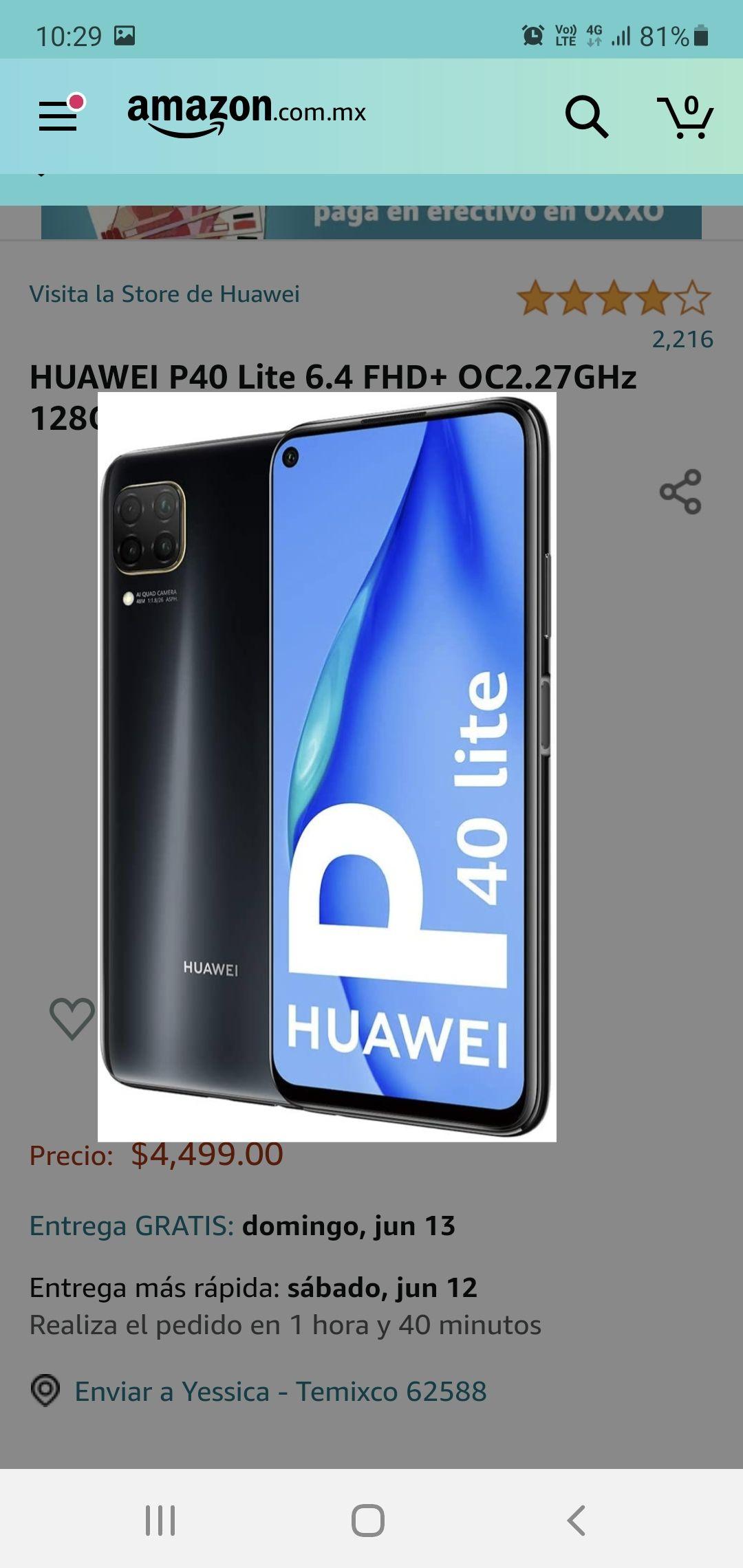 Amazon: Huawei P40 Lite 6gb/128gb