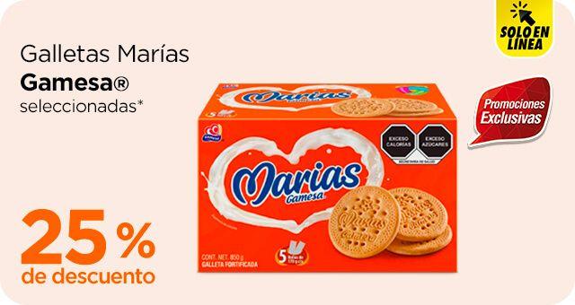 Chedraui: 25% de descuento en galletas Marías Gamesa seleccionadas