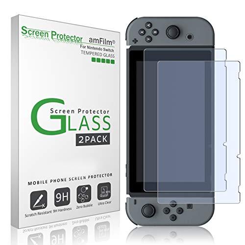 AMAZON: amFilm Nintendo Switch Protector Pantalla (2 Piezas), Cristal Vidrio Templado Protector de Pantalla para Nintendo Switch