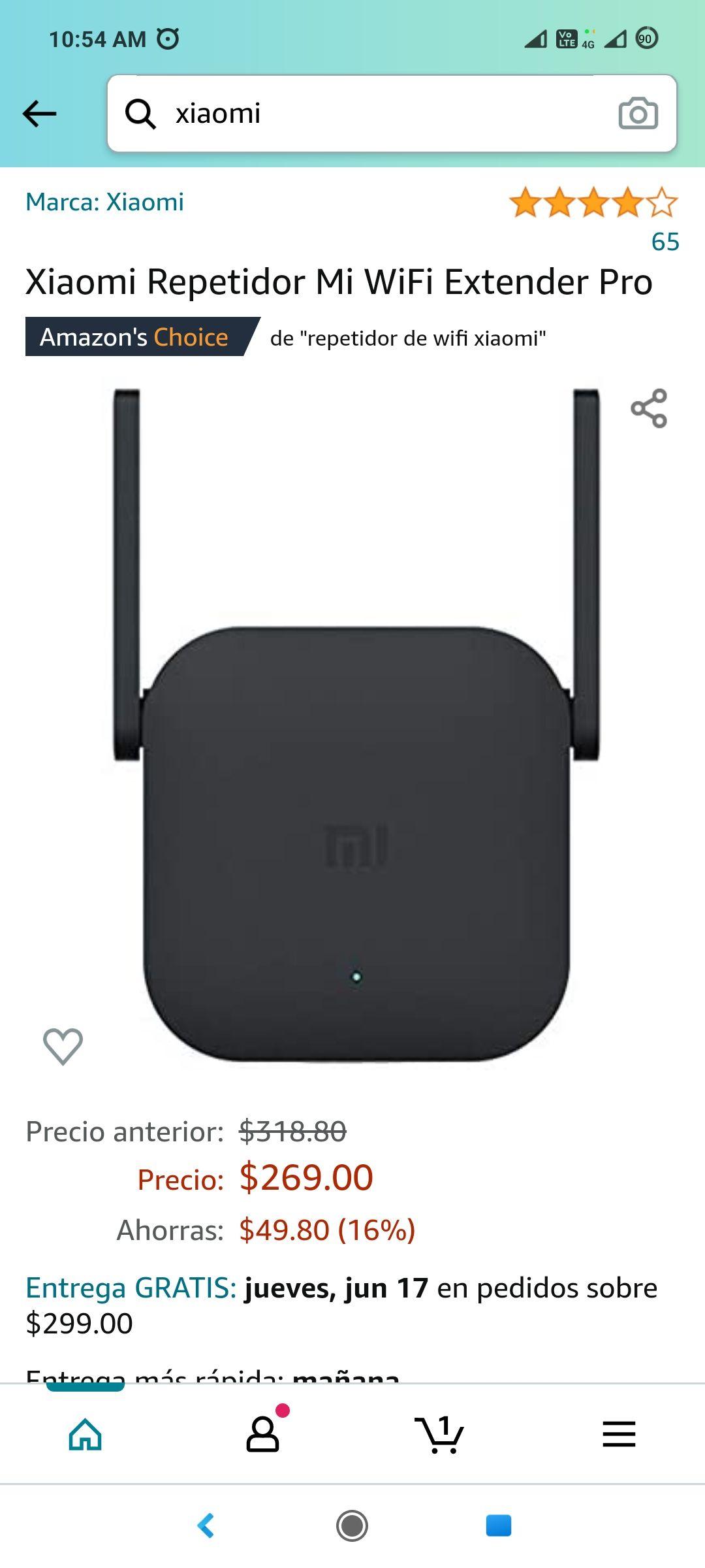 Amazon Xiaomi Repetidor Mi WiFi Extender Pro (Precio más bajo según keepa)