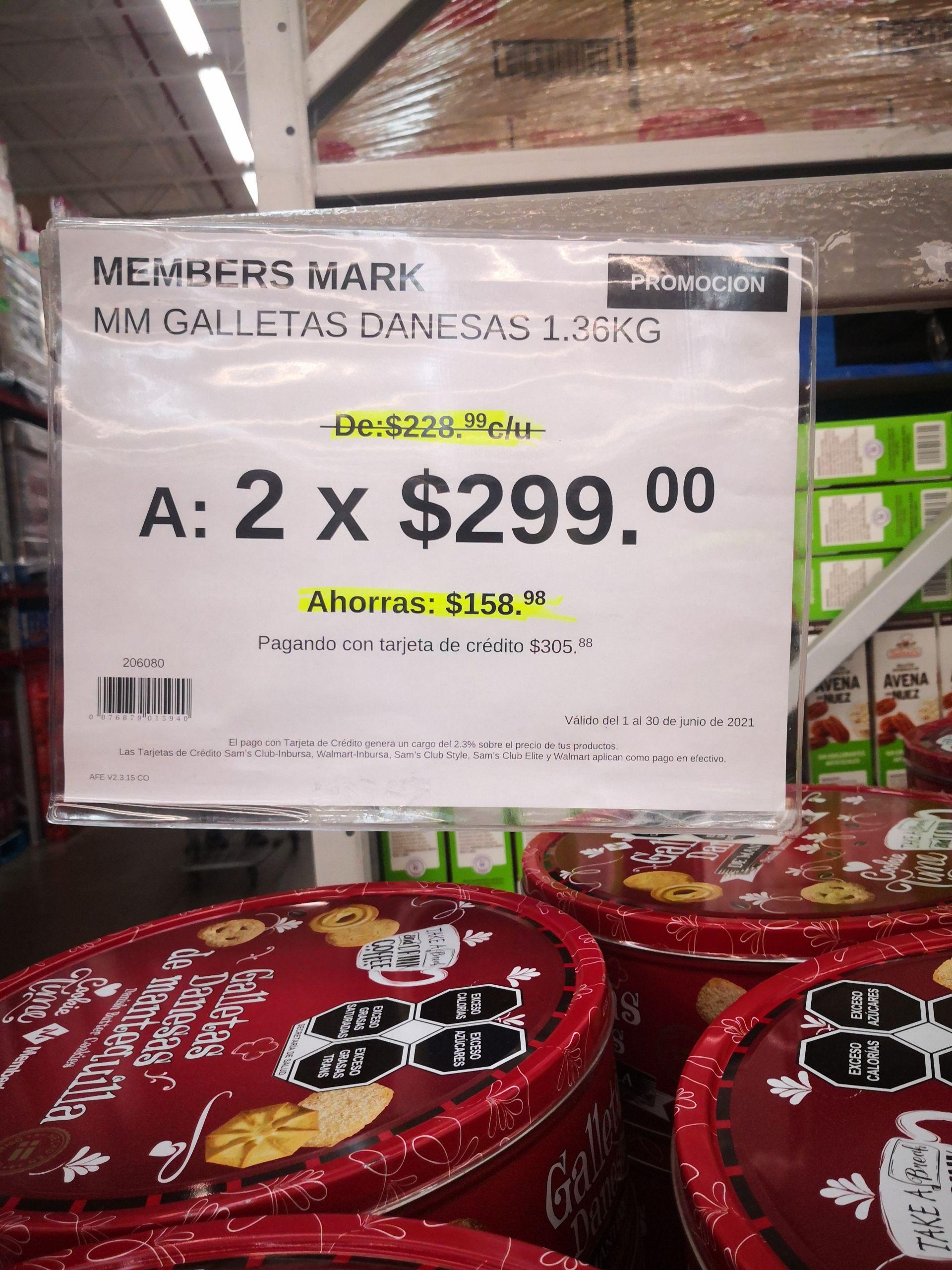 Sam's Club: 2 Galletas de mantequilla Members Mark x 300
