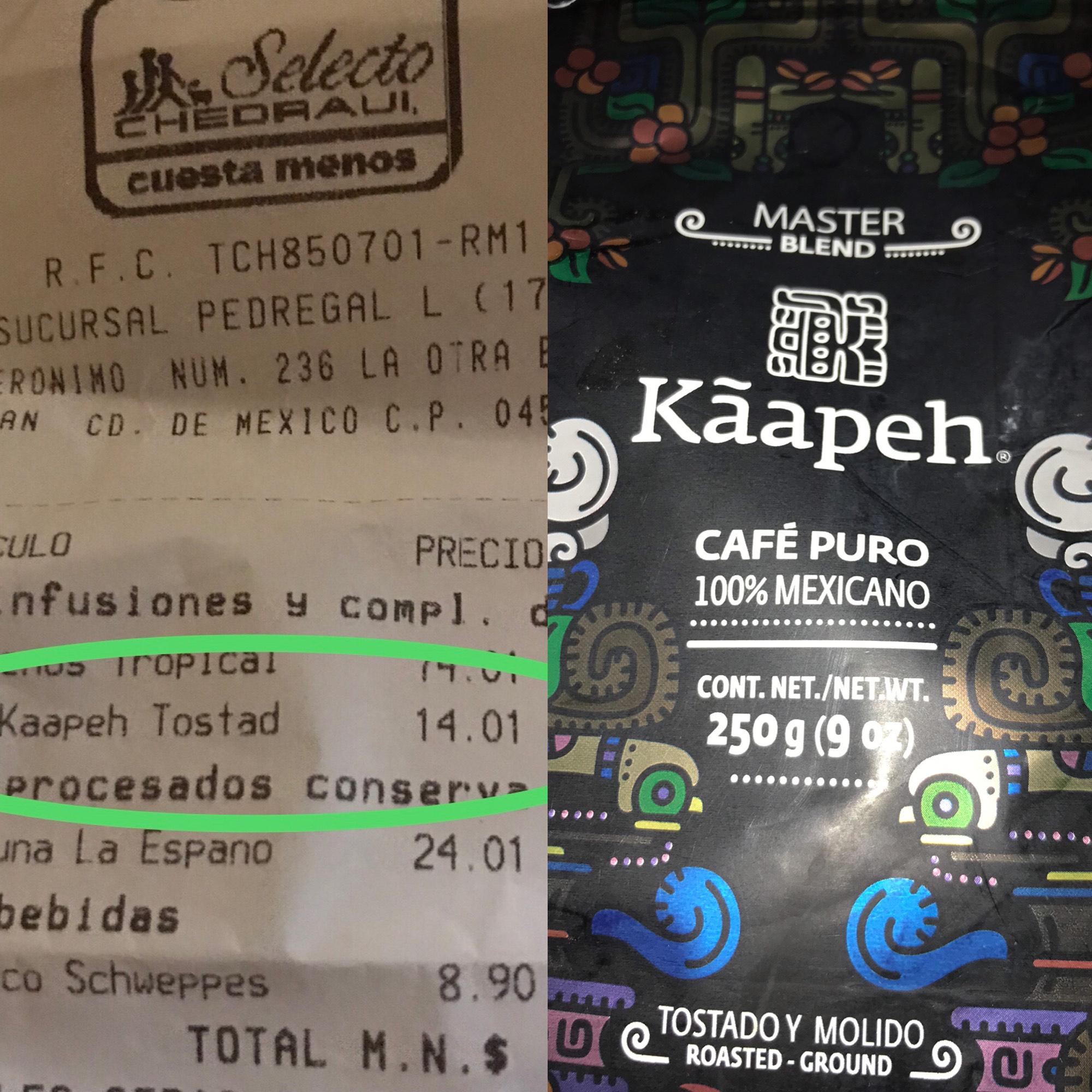Chedraui: Café molido marca Kãapeh 250 gr
