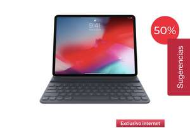 Office Depot Teclado Inalámbrico Apple Magic Keyboard MU8H2E/A / iPad Pro / Compacto / Negro