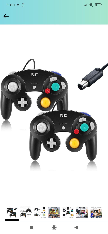 Amazon: 2 controles alámbricos Wii y GC