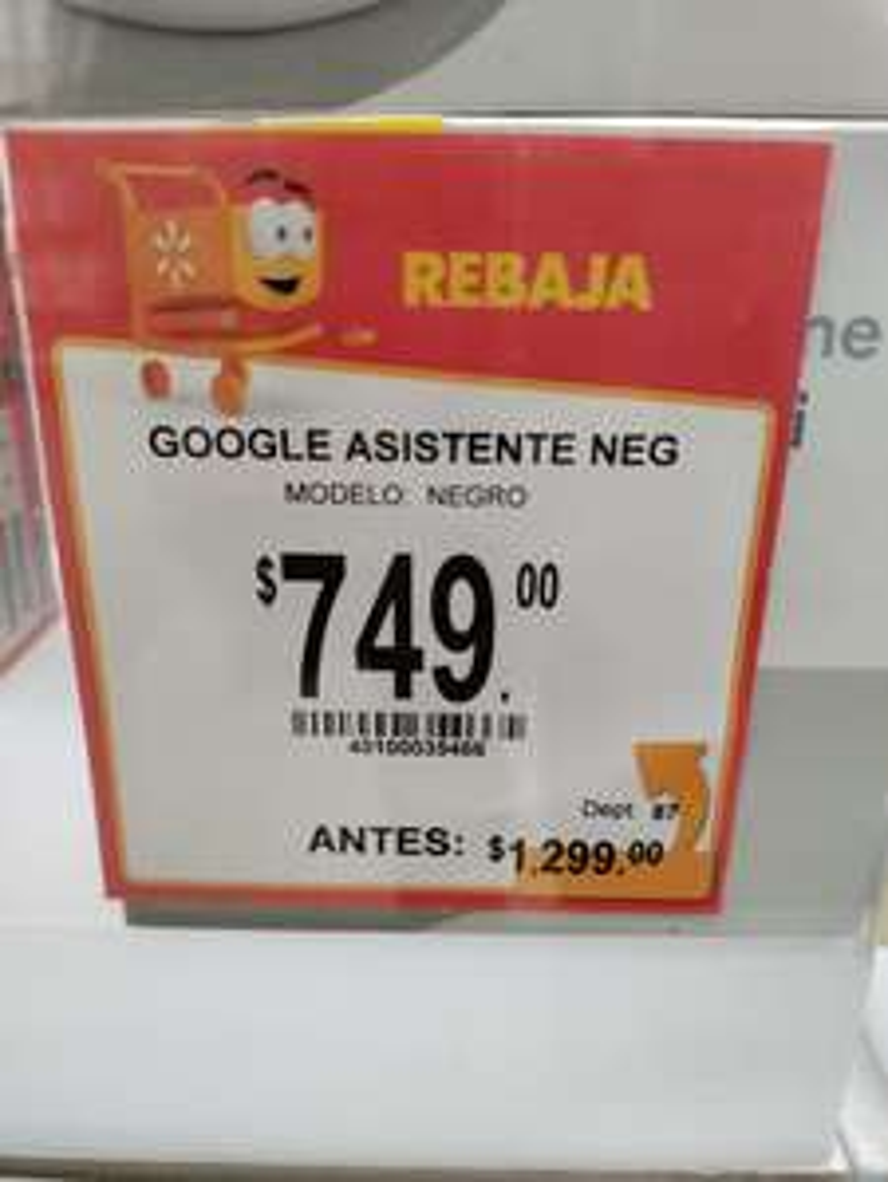 Walmart: Google home mini en descuento