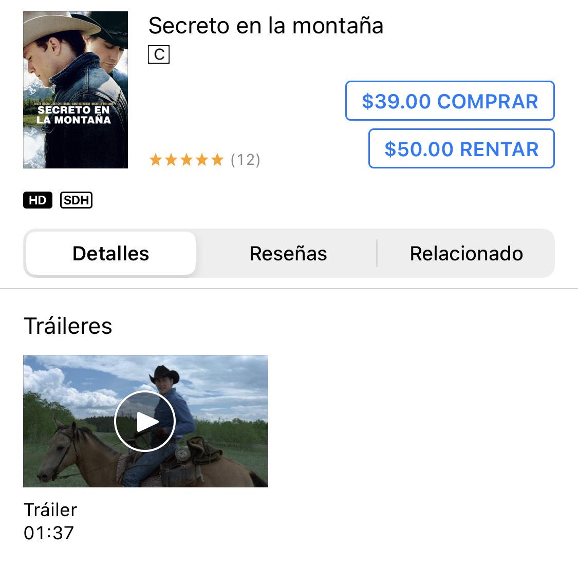 iTunes: Secreto en la Montaña [HD]