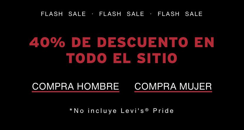 Levi's: 40% de descuento en toda la página