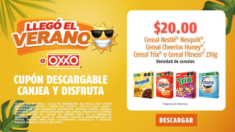 Oxxo, $20 variedad de cereales