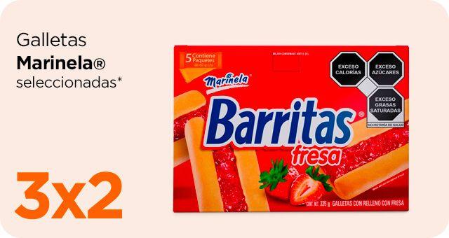 Chedraui: 3 x 2 en galletas Marinela seleccionadas