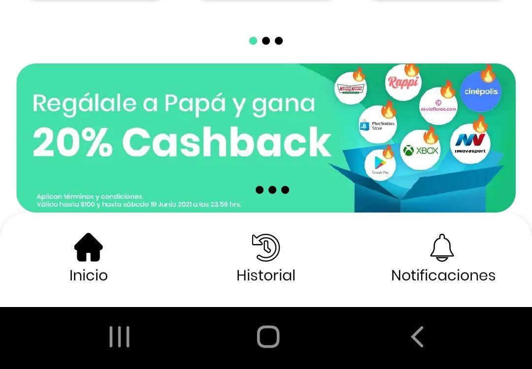Hola Cash: 20% de cashback en diferentes tarjetas de regalo