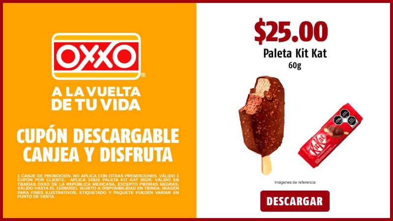 Oxxo: $25 Paleta Kitkat 60gr.