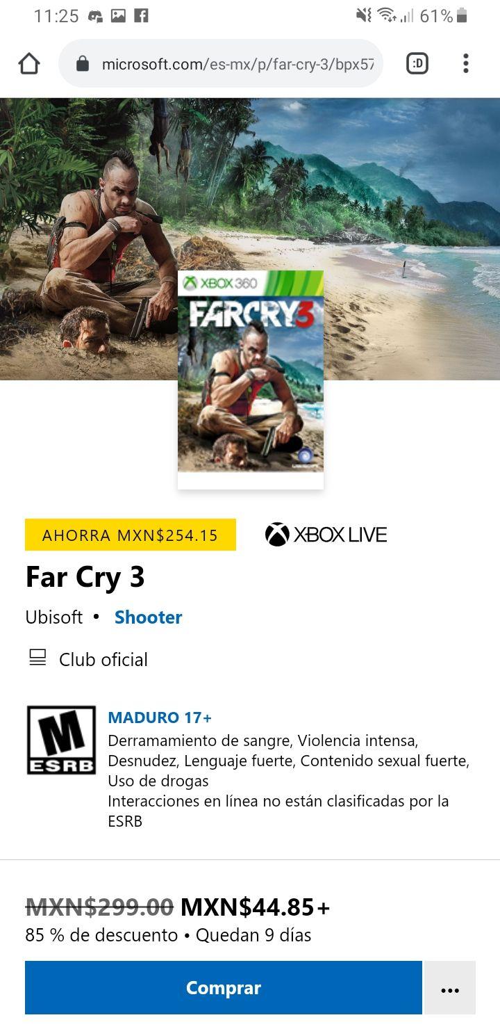 Microsoft Store: Far Cry 3 Xbox