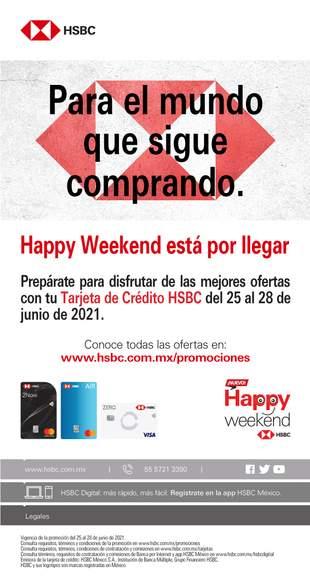 HSBC Happy weekend del 25 al 28 de junio