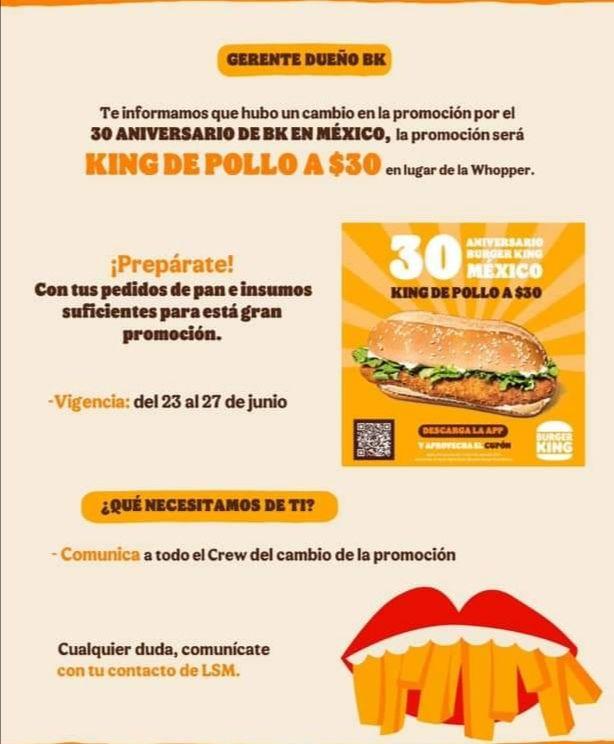 King de pollo burger king