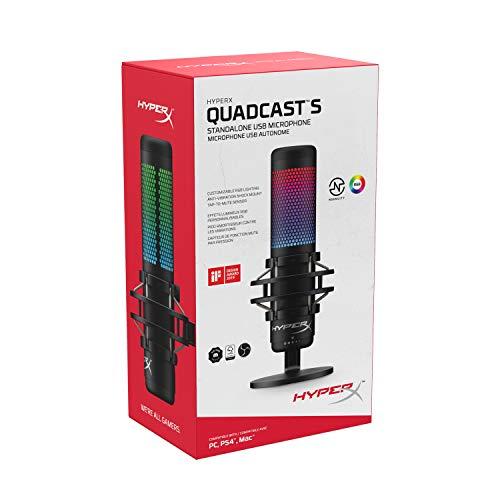 Amazon: HyperX QuadCast S - RGB USB Micrófono Condensador con Amazon Recargable (15% de descuento)