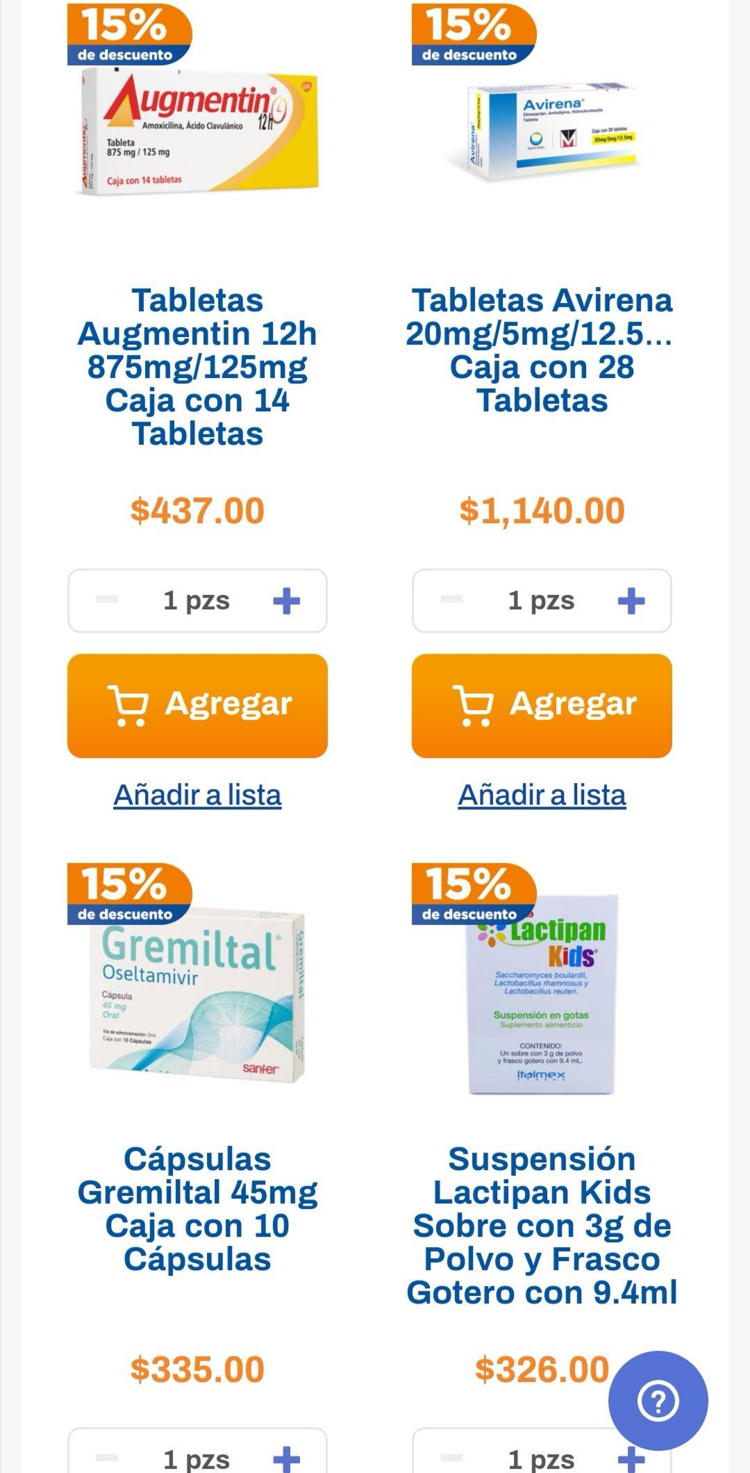 Chedraui: 15% de descuento en medicamentos éticos (exclusivo tienda en línea)