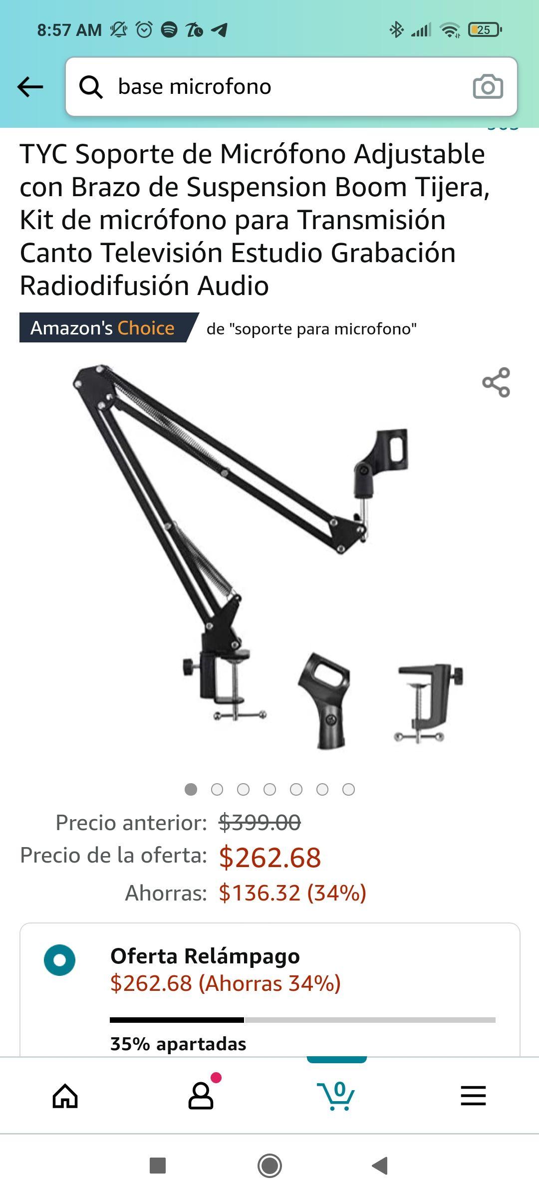 Amazon: Brazo de micrófono para mesa