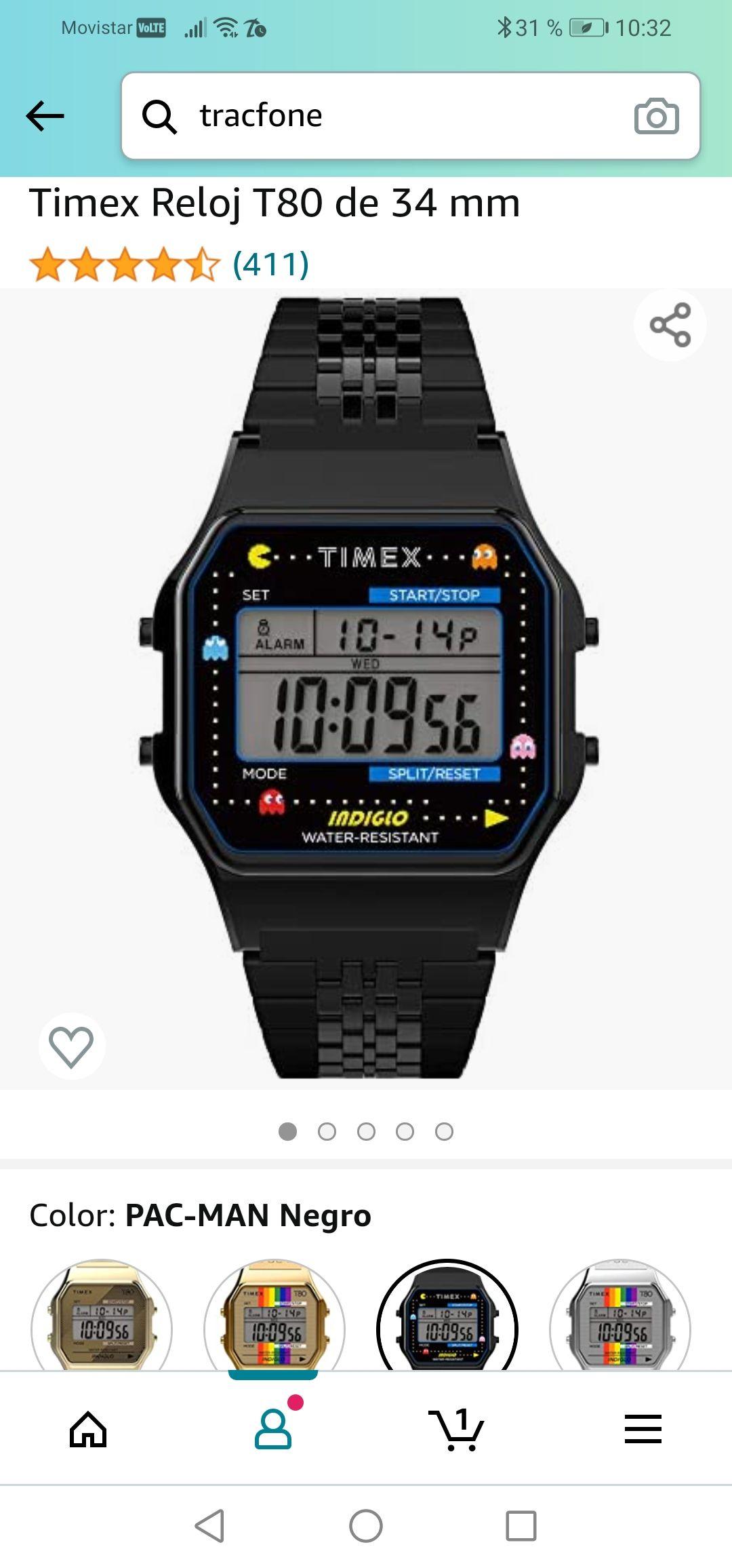 Amazon: Reloj Timex Retro Pacman