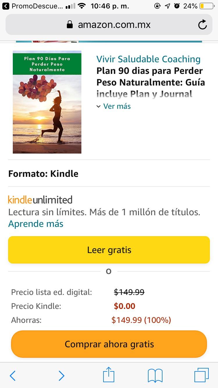 Amazon: Gratis libro; Plan de 90 días para perder peso