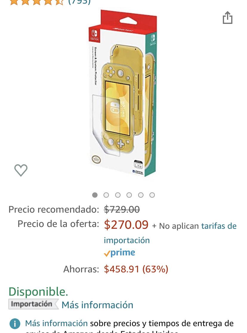 Amazon: Funda para Switch Lite
