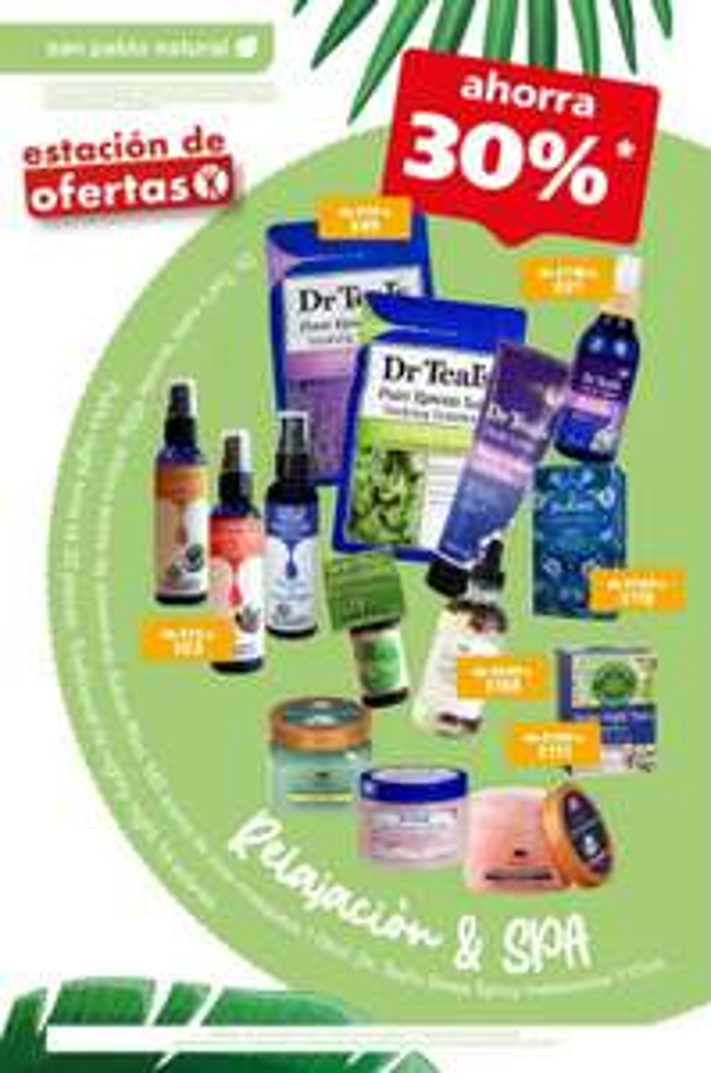 Farmacias San Pablo: 30% de descuento en productos de Relajación & Spa San Pablo Natural