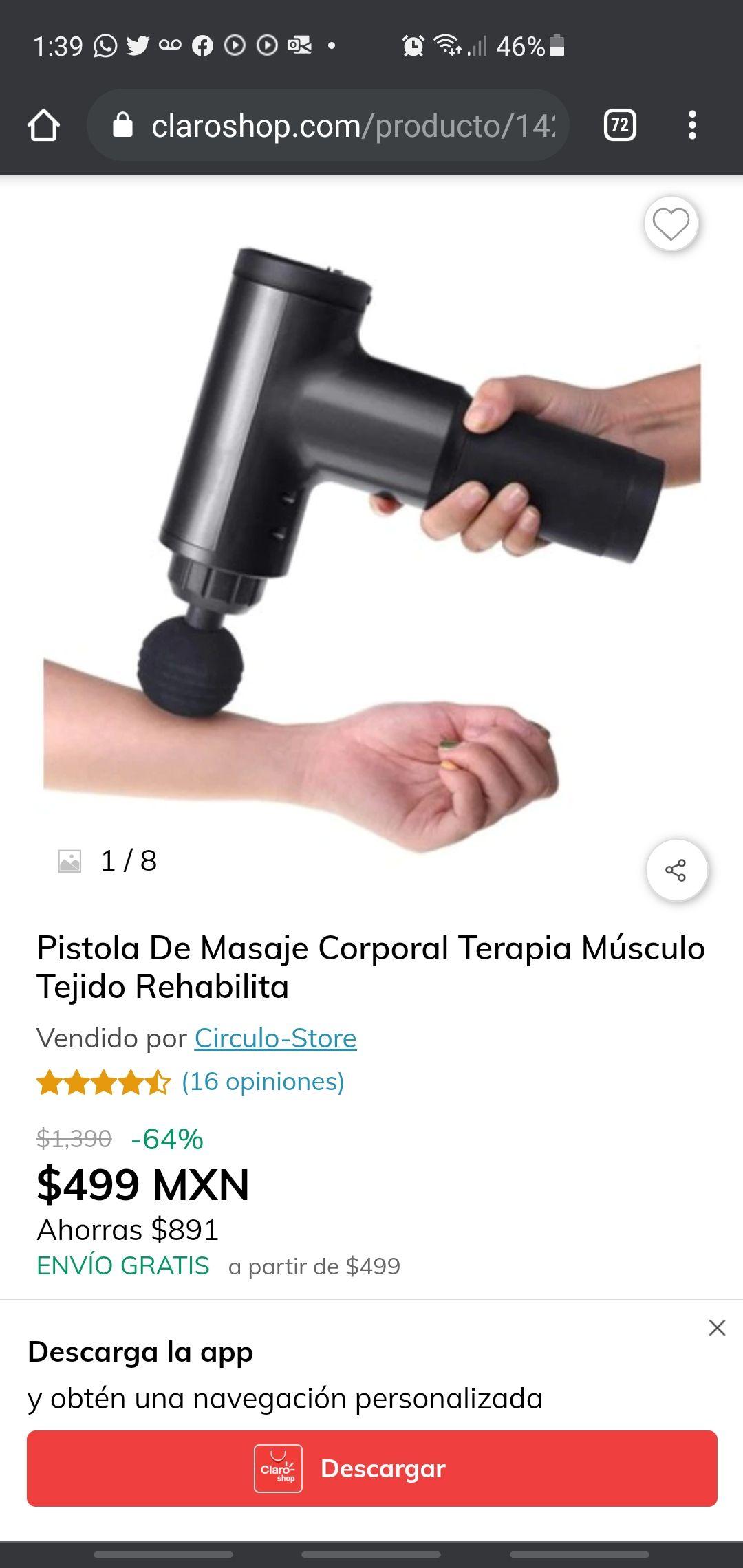 Claro Shop: Pistola de masaje corporal