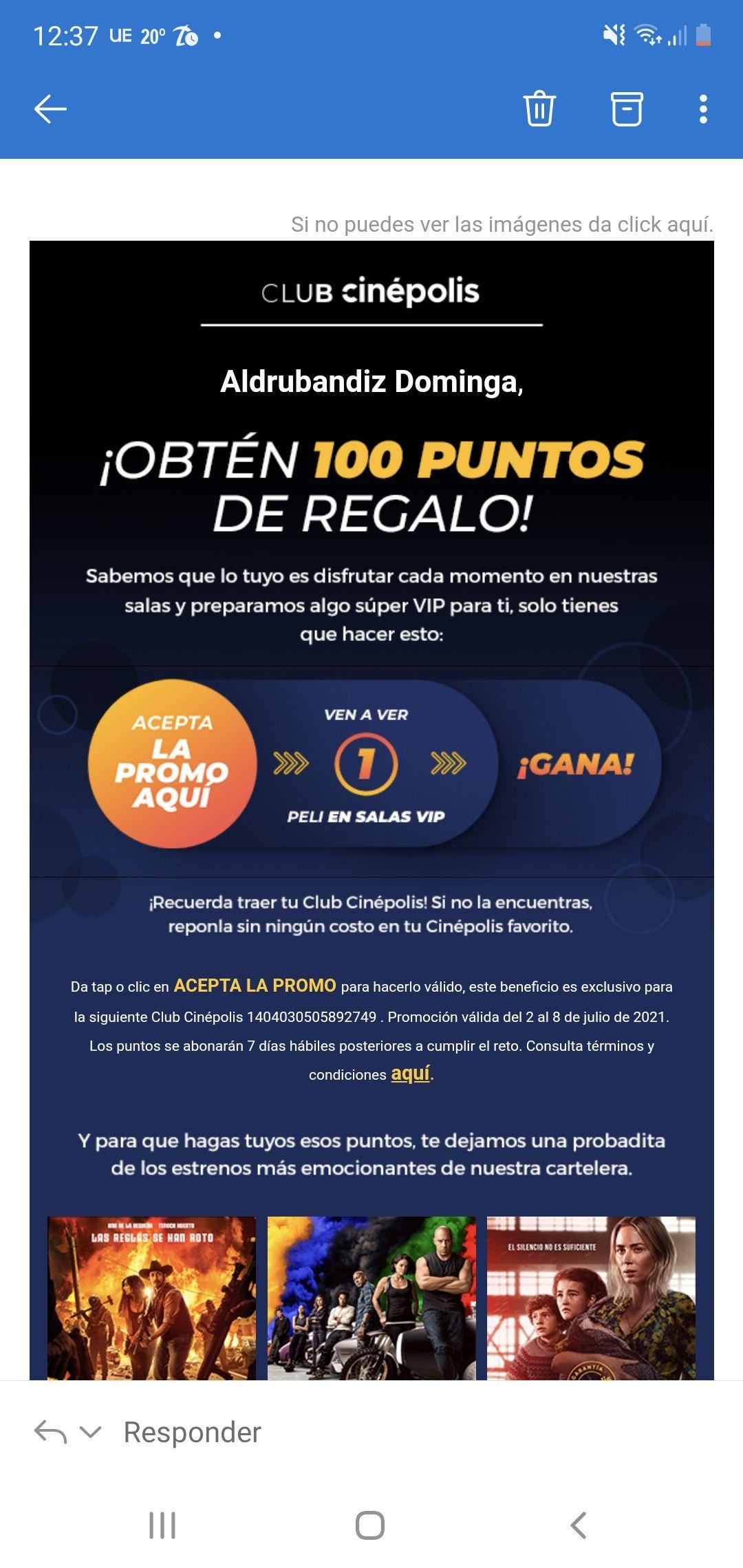 Cinépolis: 100 pesos al ver una película en VIP (usuarios seleccionados)