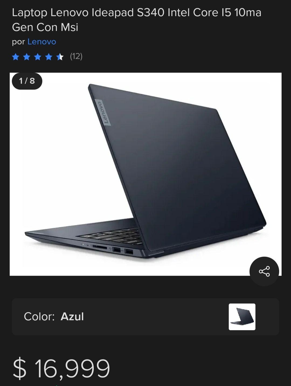 Chedraui - Acapulco : Laptop lenovo s340 i5 8gb de ram