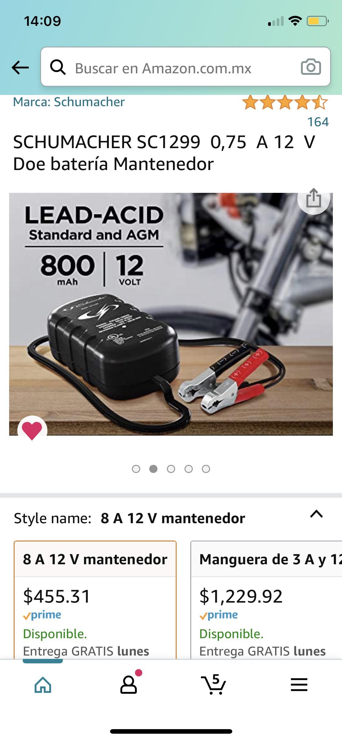 Amazon SCHUMACHER SC1299 0,75 A 12 V Doe batería Mantenedor