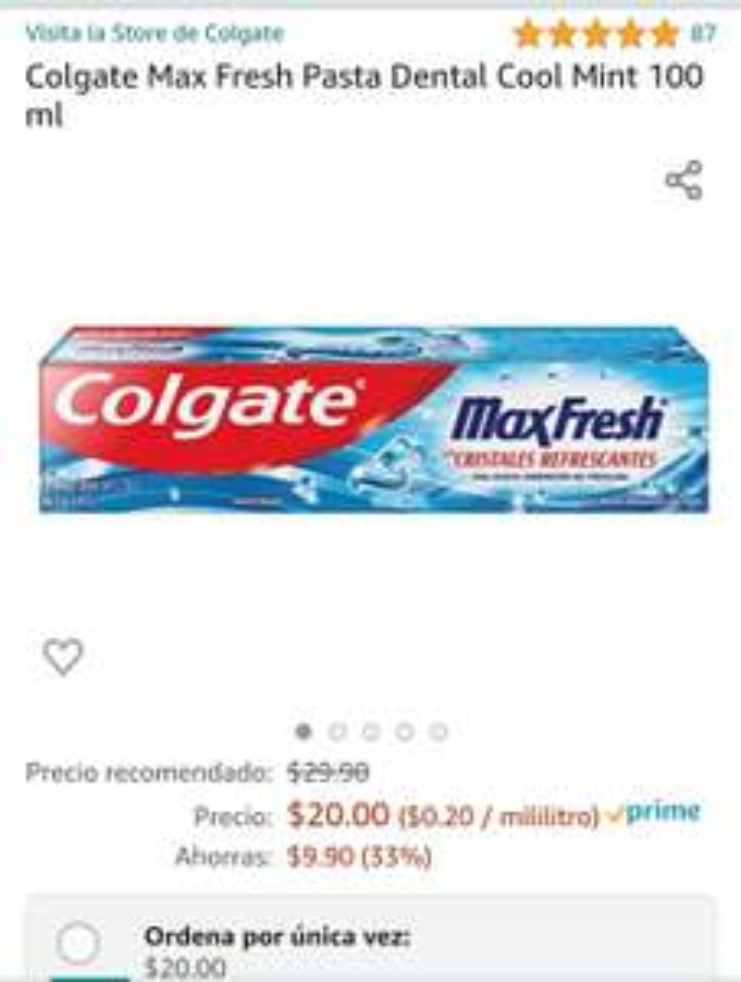 Amazon: Colgate Maxfresh con planea y cancela