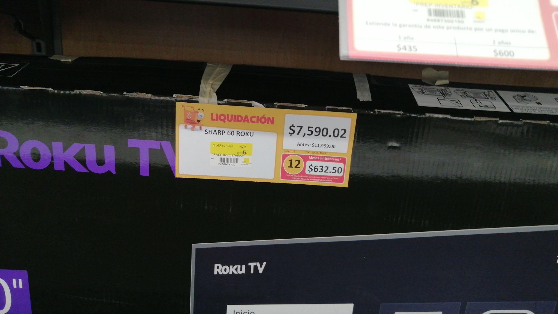 Walmart: TV Sharp 60 pulgadas con roku