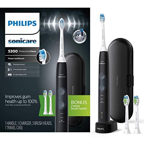 Amazon: Philips Sonicare ProtectiveClean 5300 Cepillo de dientes eléctrico recargable y 2 repuestos