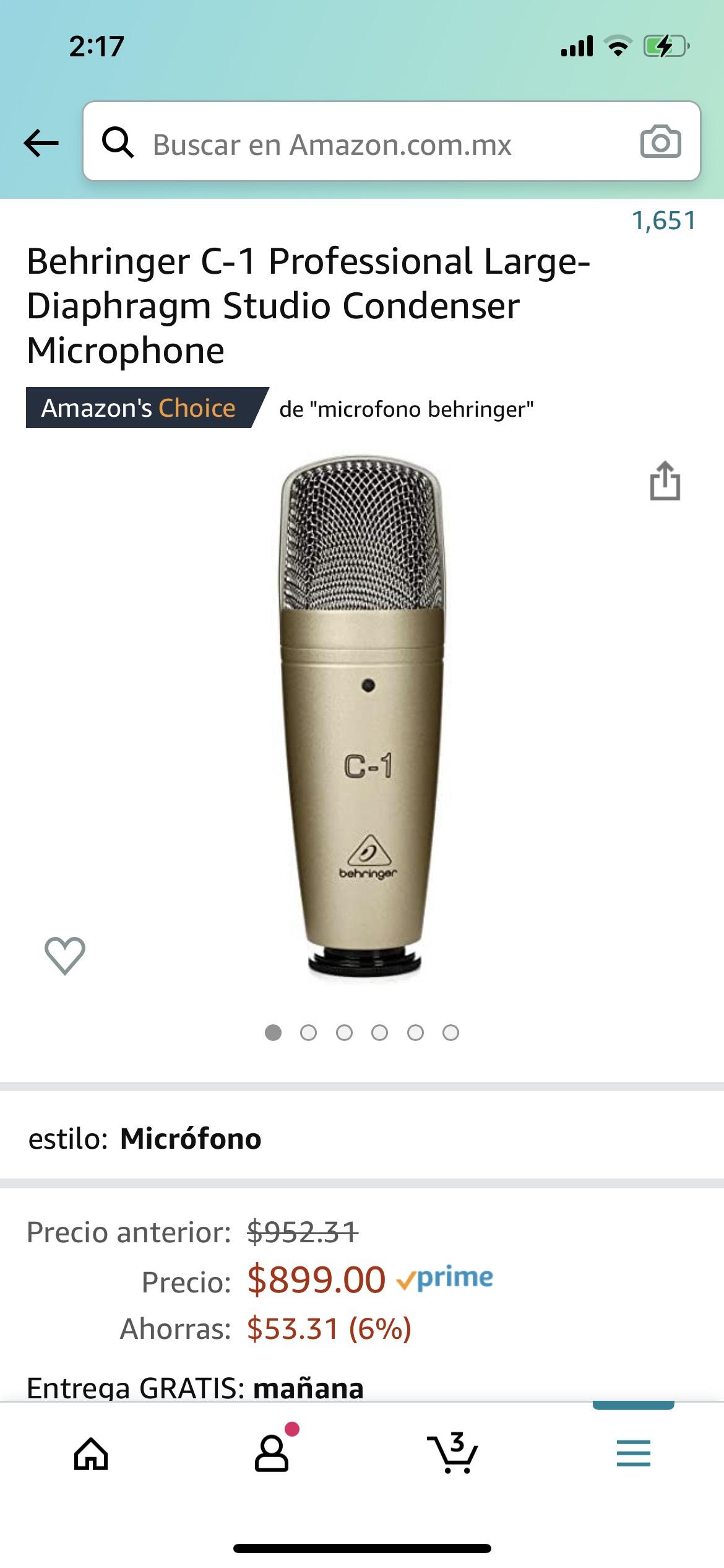 Amazon: Micrófono Behringer C-1