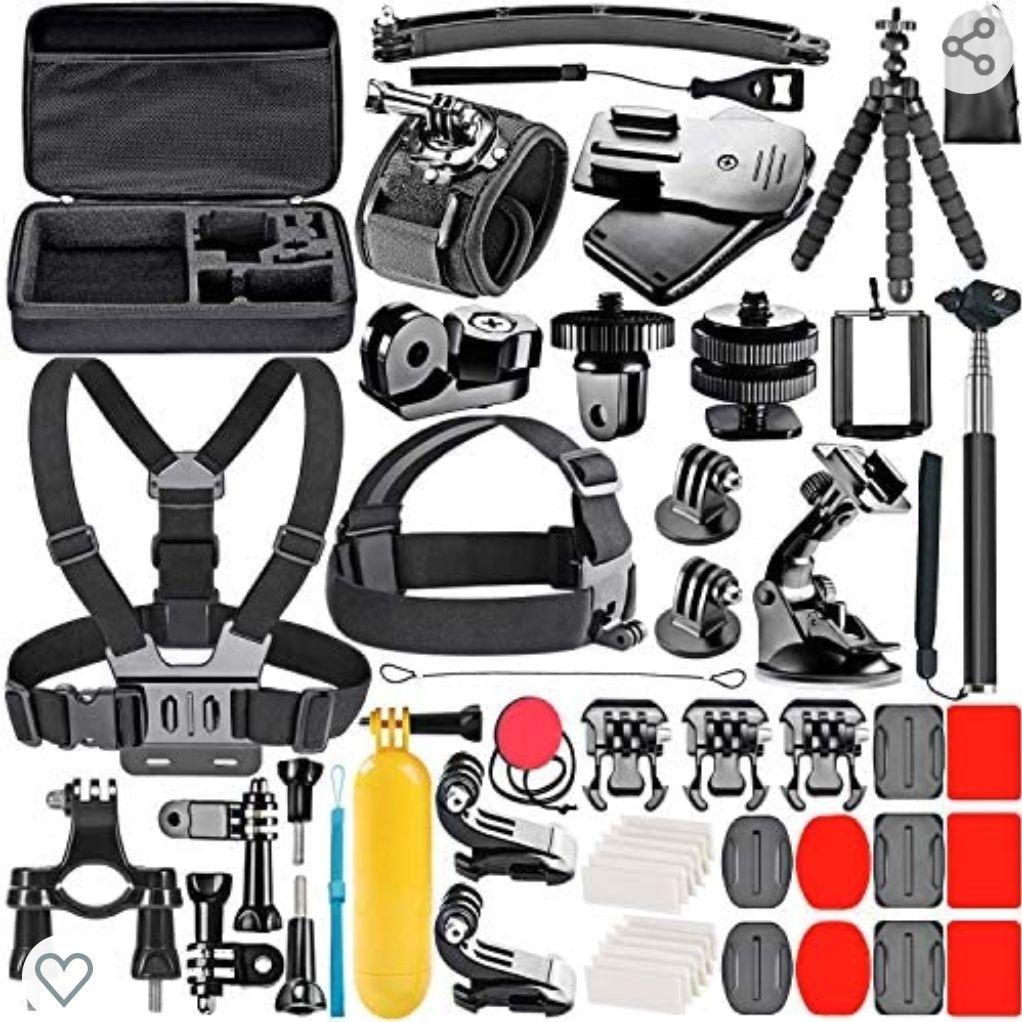 Amazon: Kit de accesorios 53 en 1 Go Pro - Dji Osmo