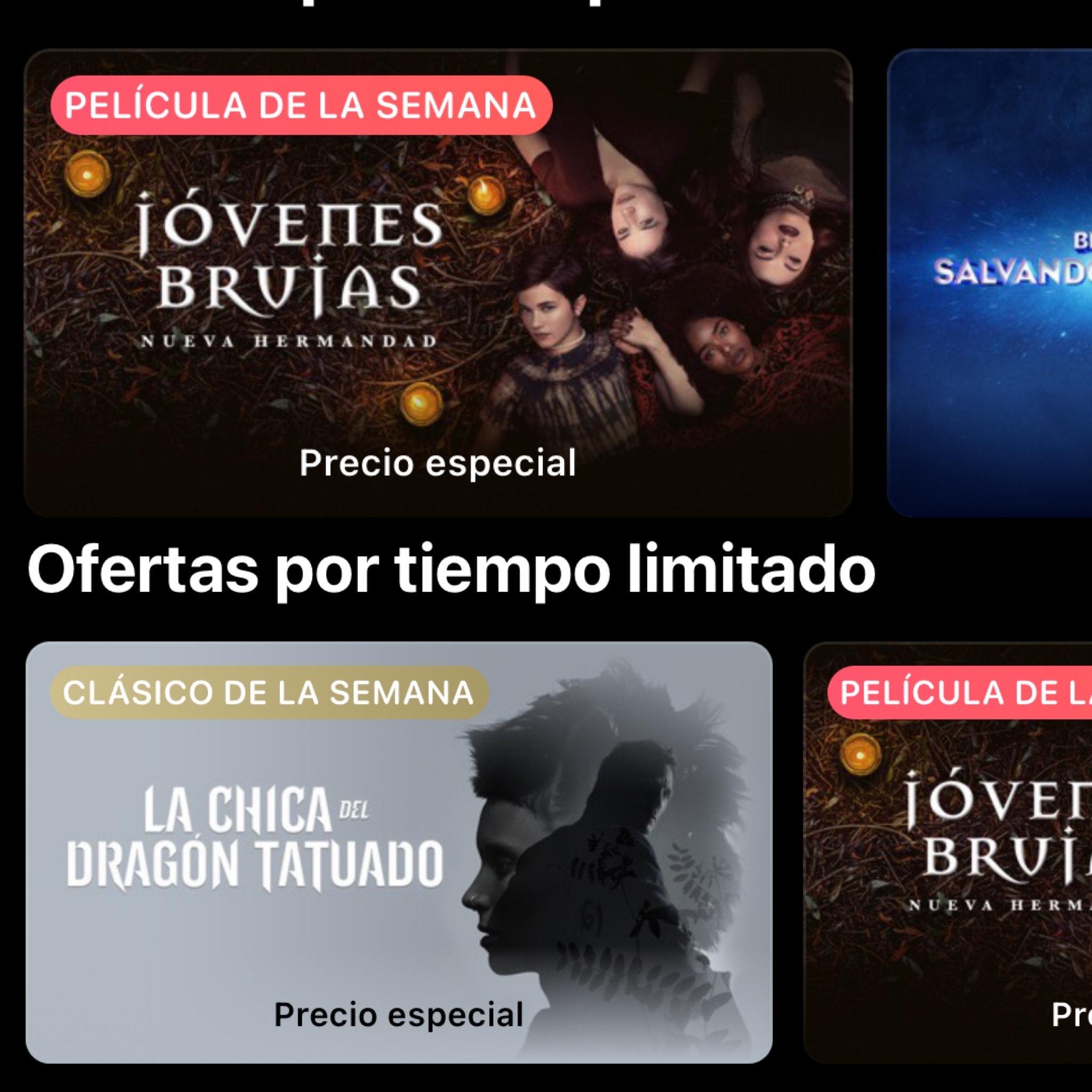 iTunes: Jóvenes burujas 4K/ La Chica Del Dragón Tatuado.