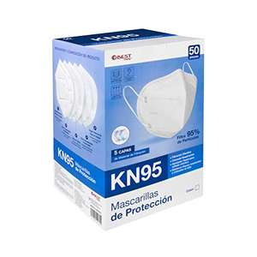 Amazon: Best Trading Cubrebocas KN95 Certificado 50 Piezas,con 5 Capas de Protección