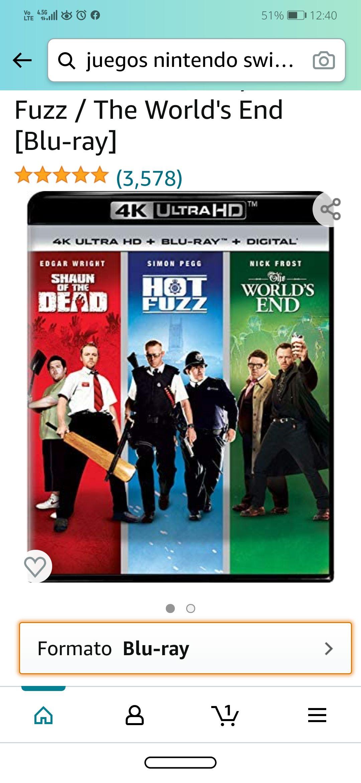 Amazon: 4K UHD Trilogía Cornetto: Hot Fuzz, Shaun of the Dead y the World's End