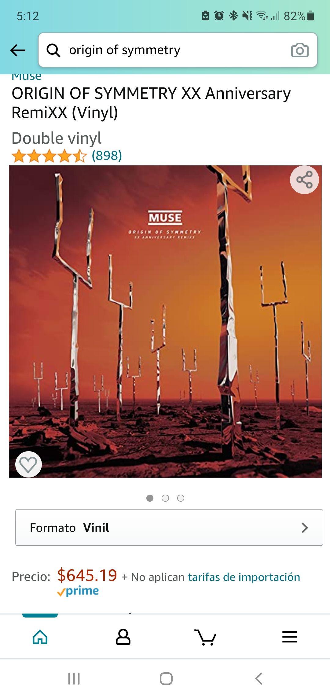 AMAZON: Muse ORIGIN OF SYMMETRY XX Anniversary RemiXX (Vinyl)