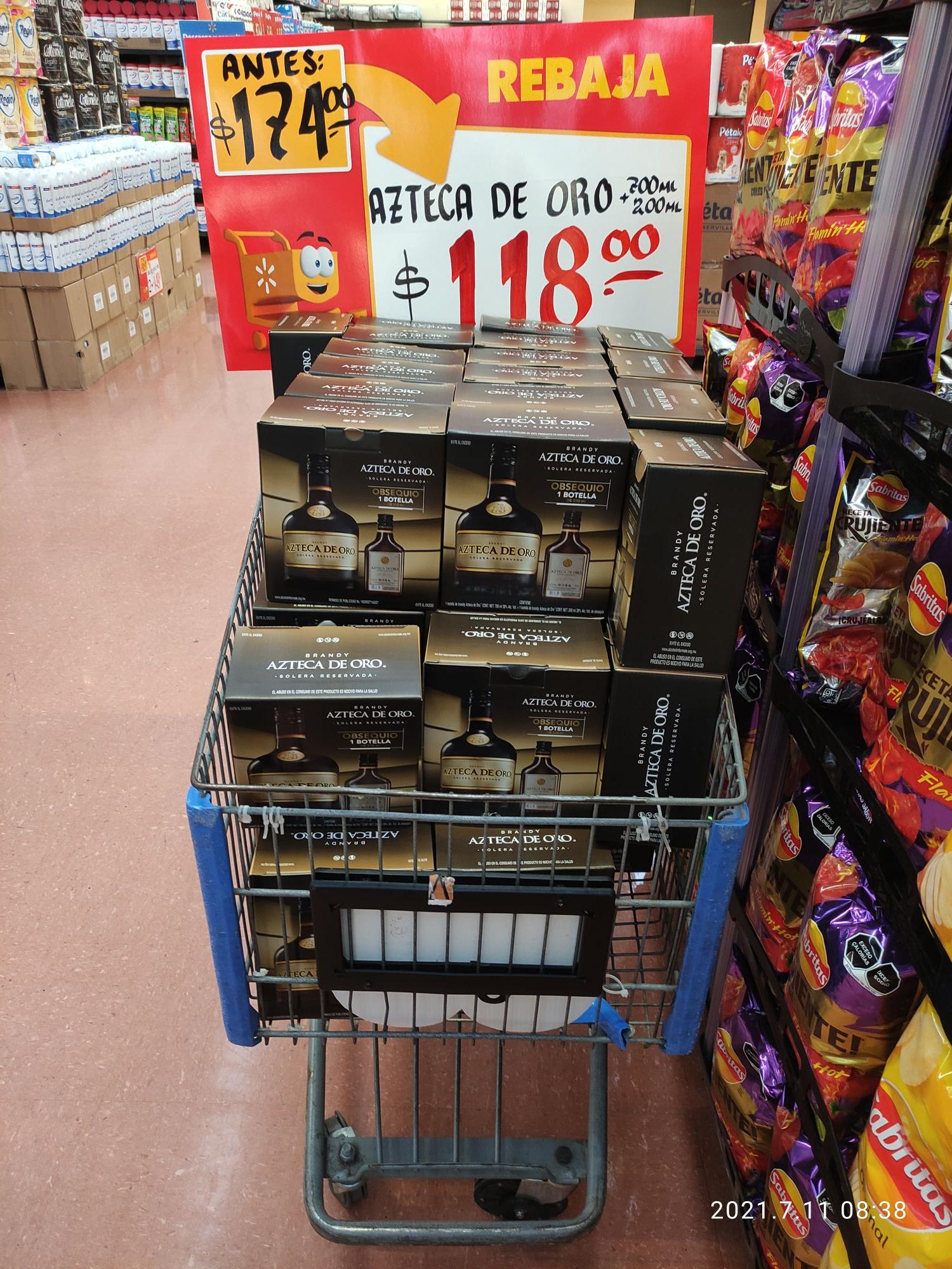Walmart: Brandy Azteca de Oro