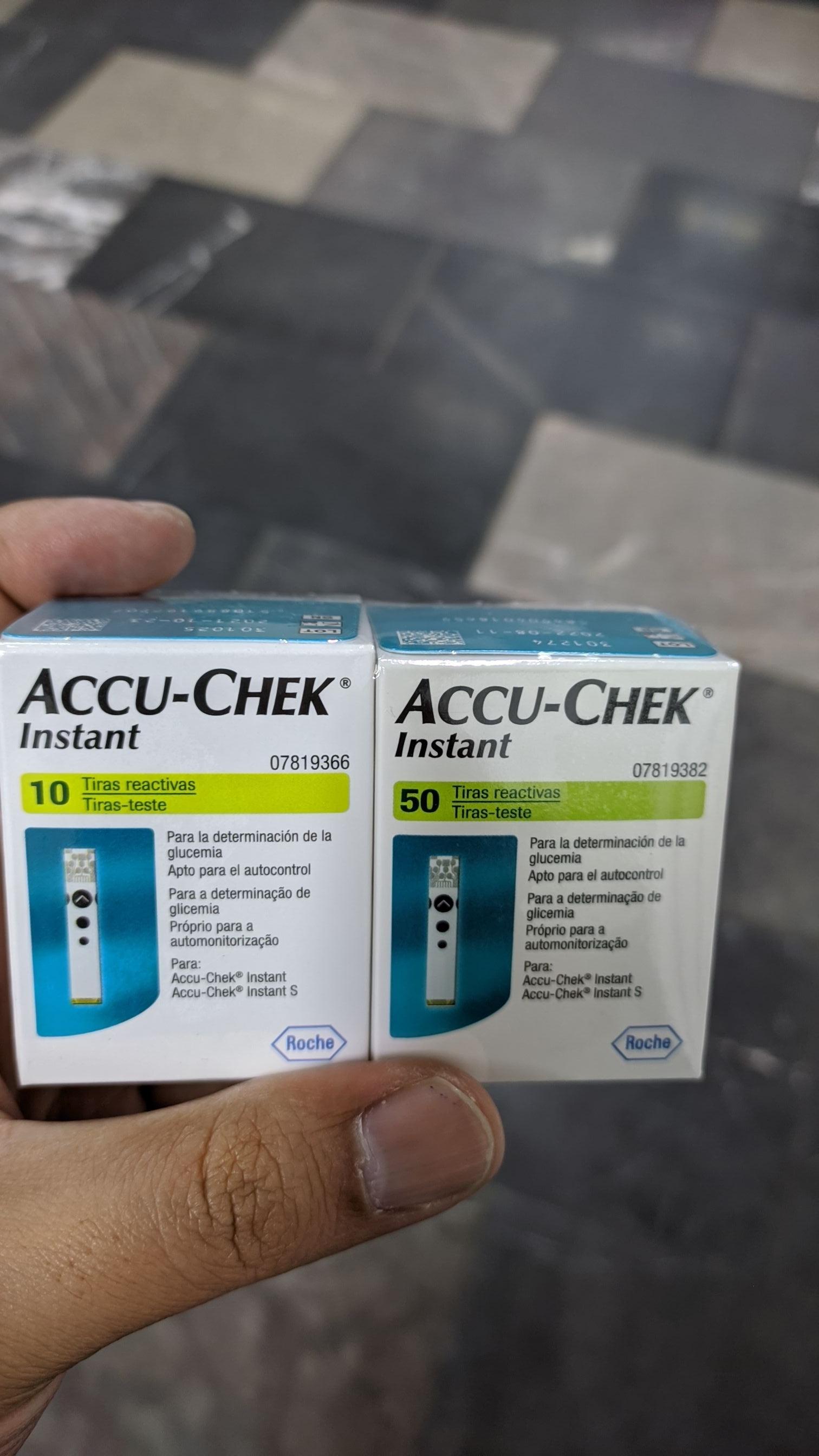 Farmacia San Pablo: ACCU-CHEK INSTANT 50 + 10 TIRAS