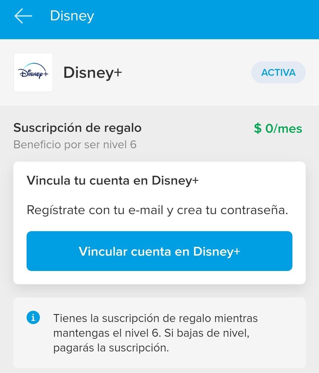 Mercado Pago: Disney+ Gratis con Nivel 6