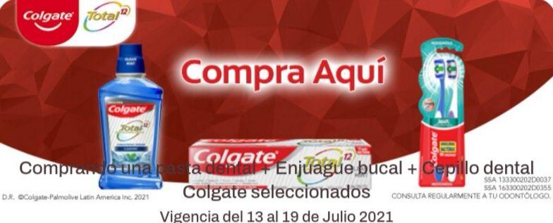 Chedraui: Envío gratis en la compra de una pasta dental + enjuague bucal + cepillo dental Colgate seleccionados