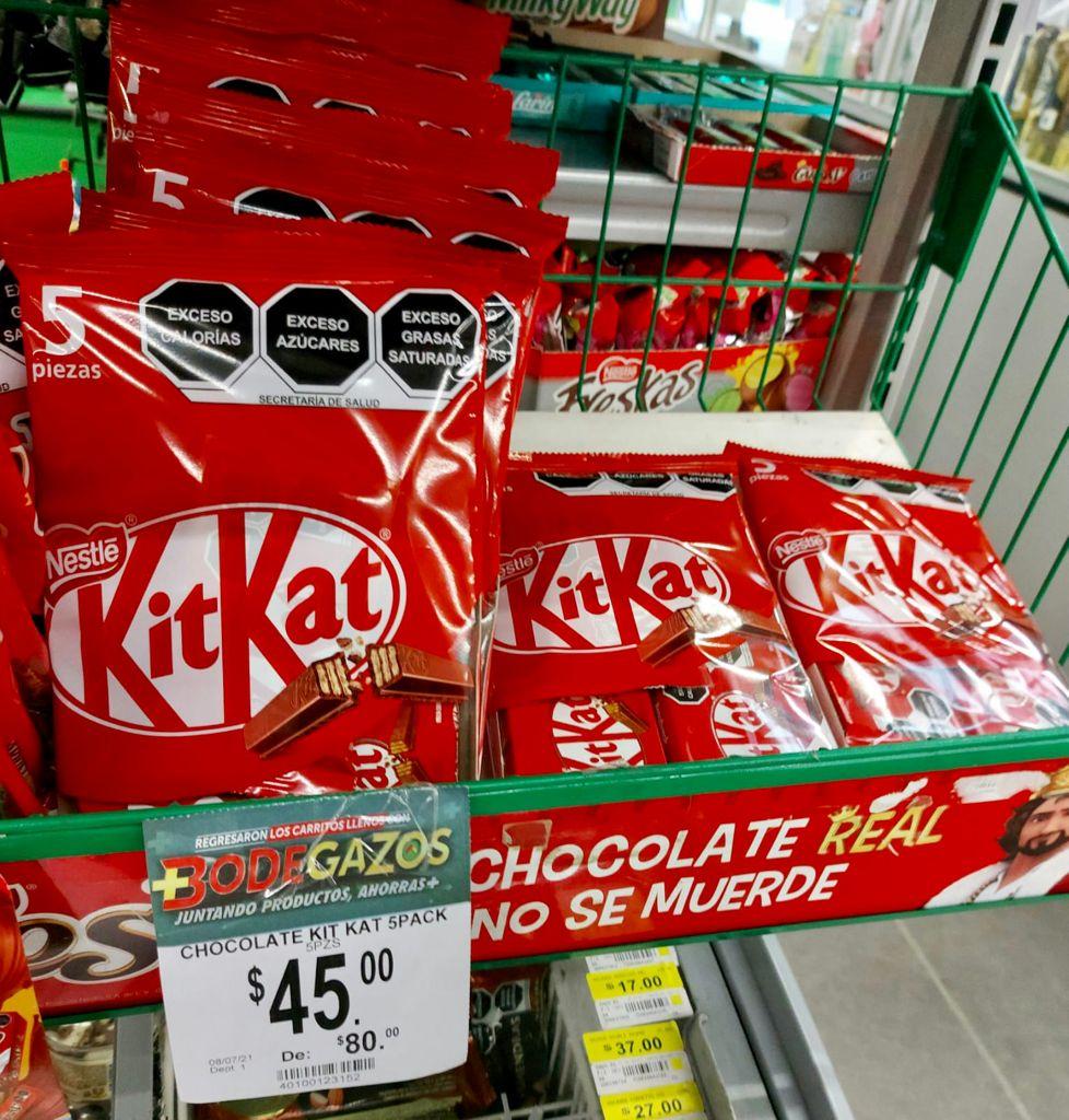 Bodega Aurrera: Kit Kat 5 pack